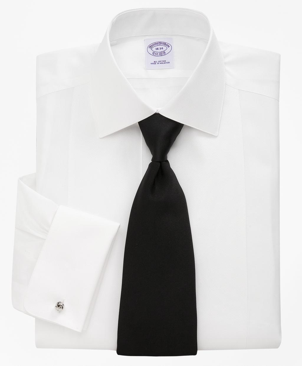 Lyst brooks brothers bib front spread collar tuxedo for Tuxedo shirt without studs