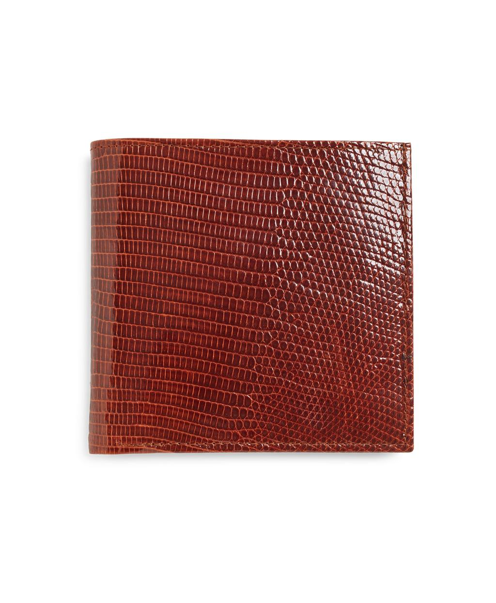 e1aa3705ab741 Brooks Brothers Lizard Euro Wallet in Brown for Men - Save 19% - Lyst