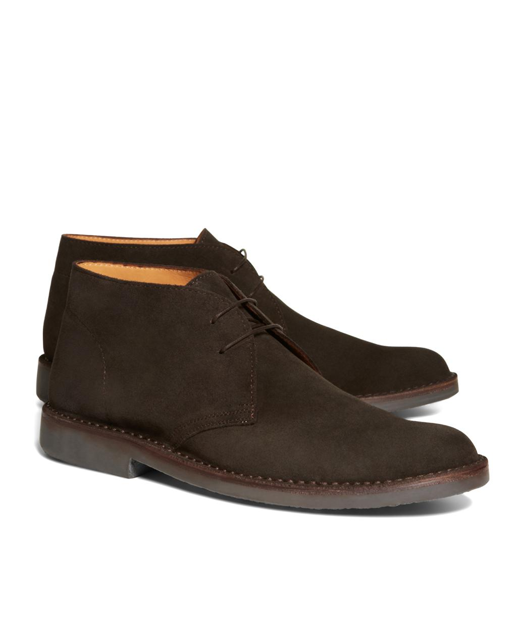 d5699156f9a Lyst - Brooks Brothers Field Chukka Boots in Brown for Men