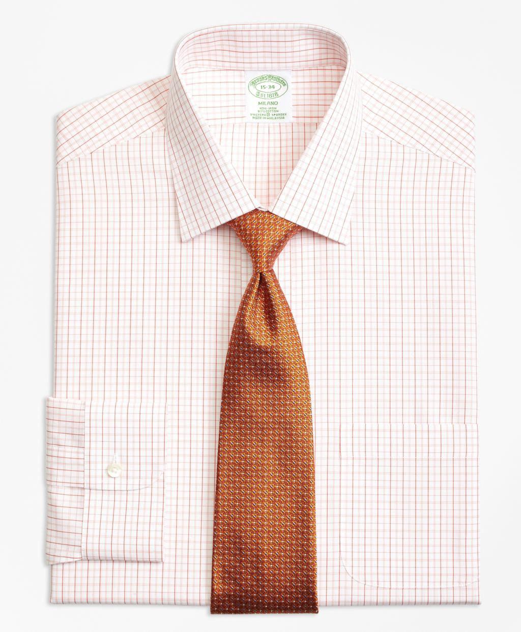 Lyst brooks brothers non iron regent fit double split for Brooks brothers dress shirt fit