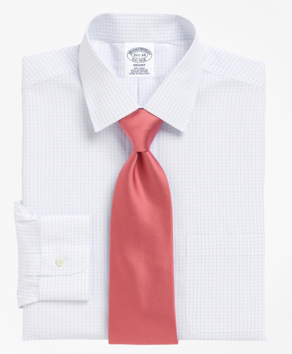 Lyst brooks brothers non iron regent fit medium check for Brooks brothers dress shirt fit