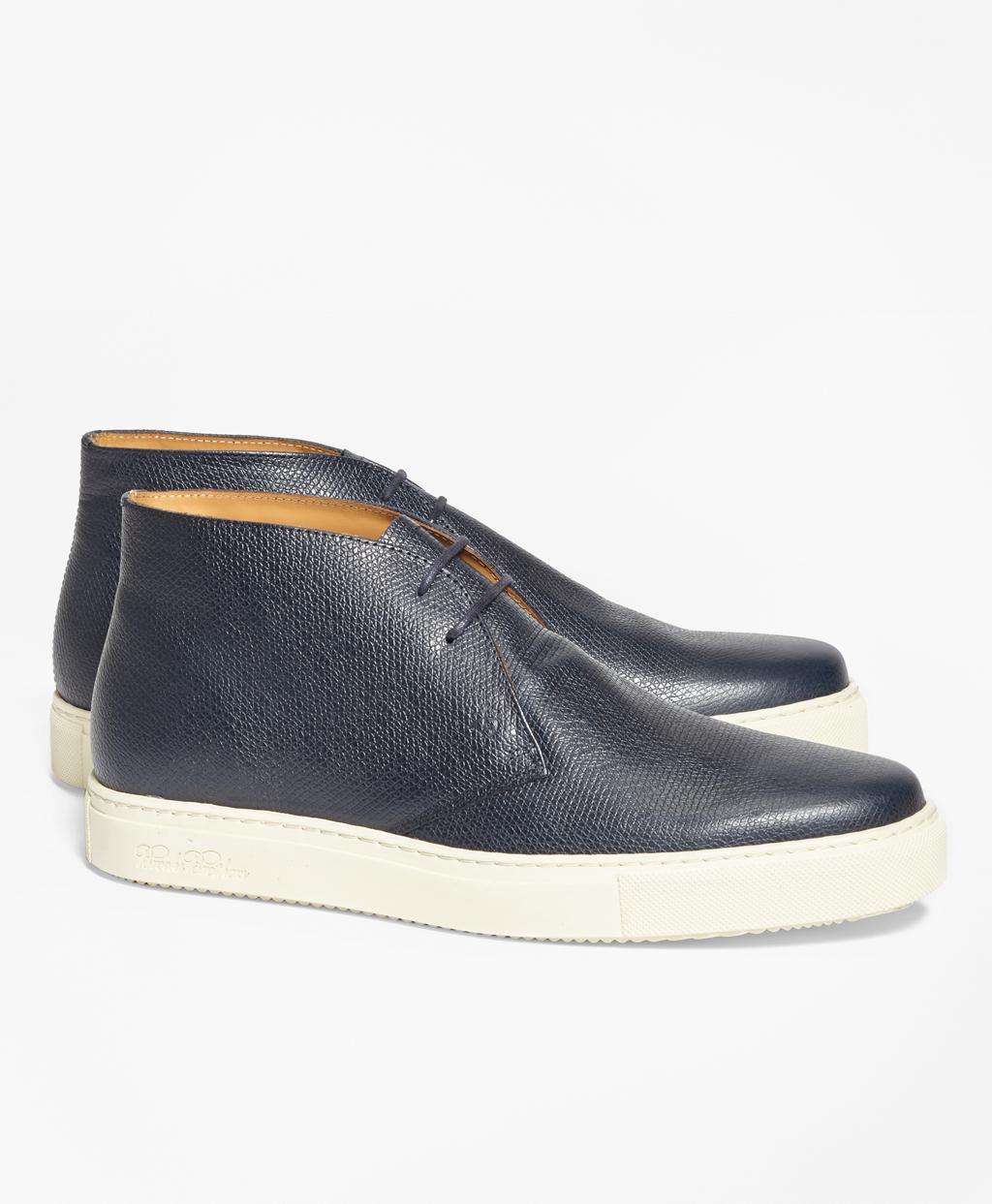 f566d143954 Lyst - Brooks Brothers 1818 Footwear Textured Leather Chukka ...