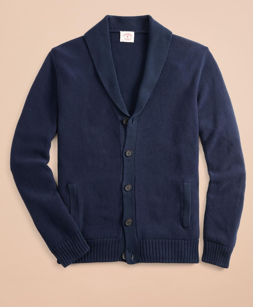 be68176ec Lyst - Brooks Brothers Shawl-collar Cardigan in Blue for Men