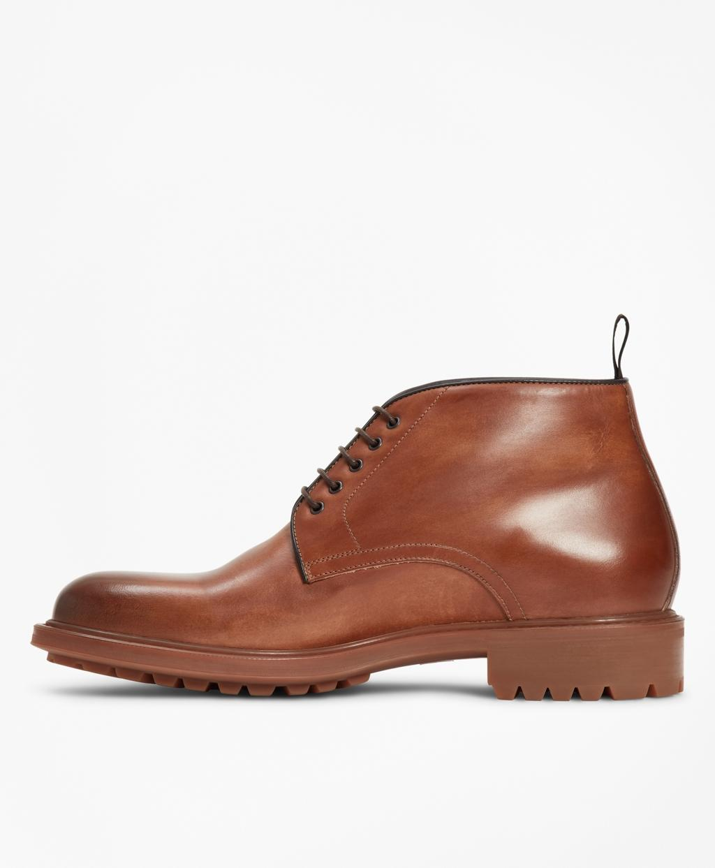 4f3d3171b17 Lyst - Brooks Brothers 1818 Footwear Lug-sole Leather Chukka Boots in Brown  for Men