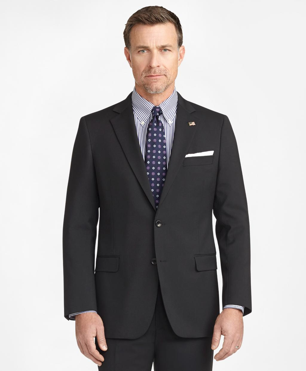 86d7301b099e Lyst - Brooks Brothers Fitzgerald Fit Two-button 1818 Suit in Black ...