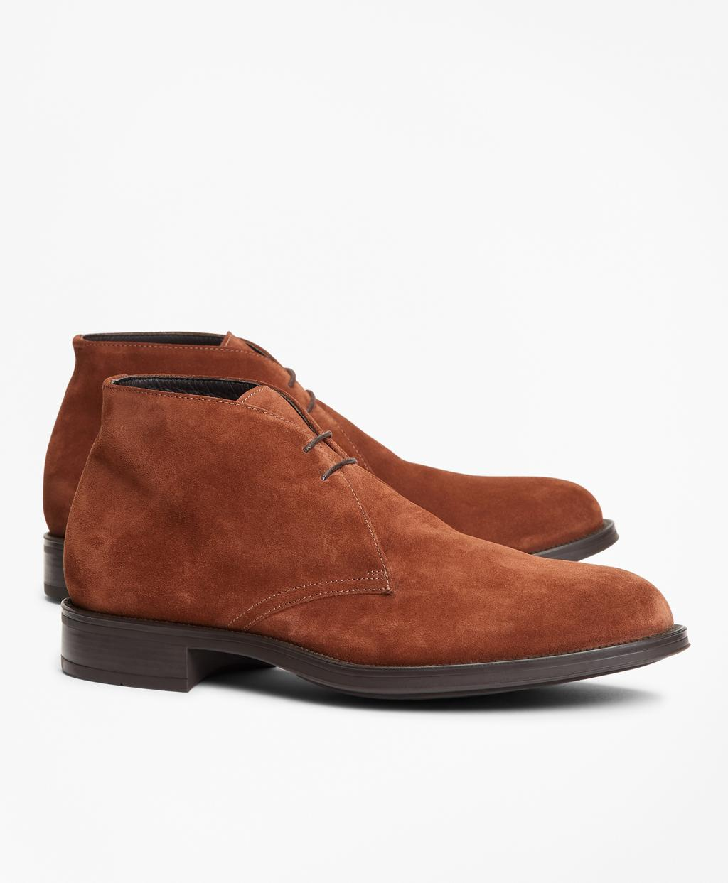 bf329984171 Brooks Brothers 1818 Footwear Suede Chukka Boots in Brown for Men - Lyst