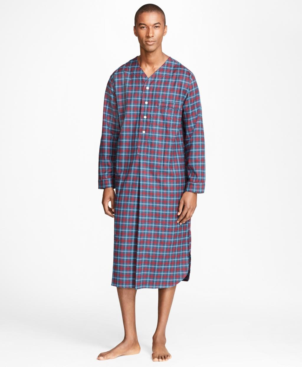 Lyst - Brooks Brothers Alternating Plaid Nightshirt in Blue for Men 43293877e