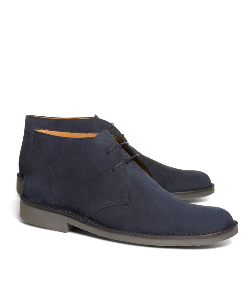 86c60df0aad Lyst - Brooks Brothers Field Chukka Boots in Blue for Men