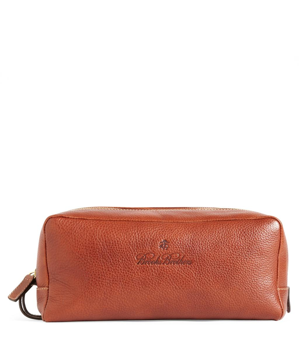 8b8daee1a3e Lyst - Brooks Brothers Leather Travel Toiletry Case in Brown for Men