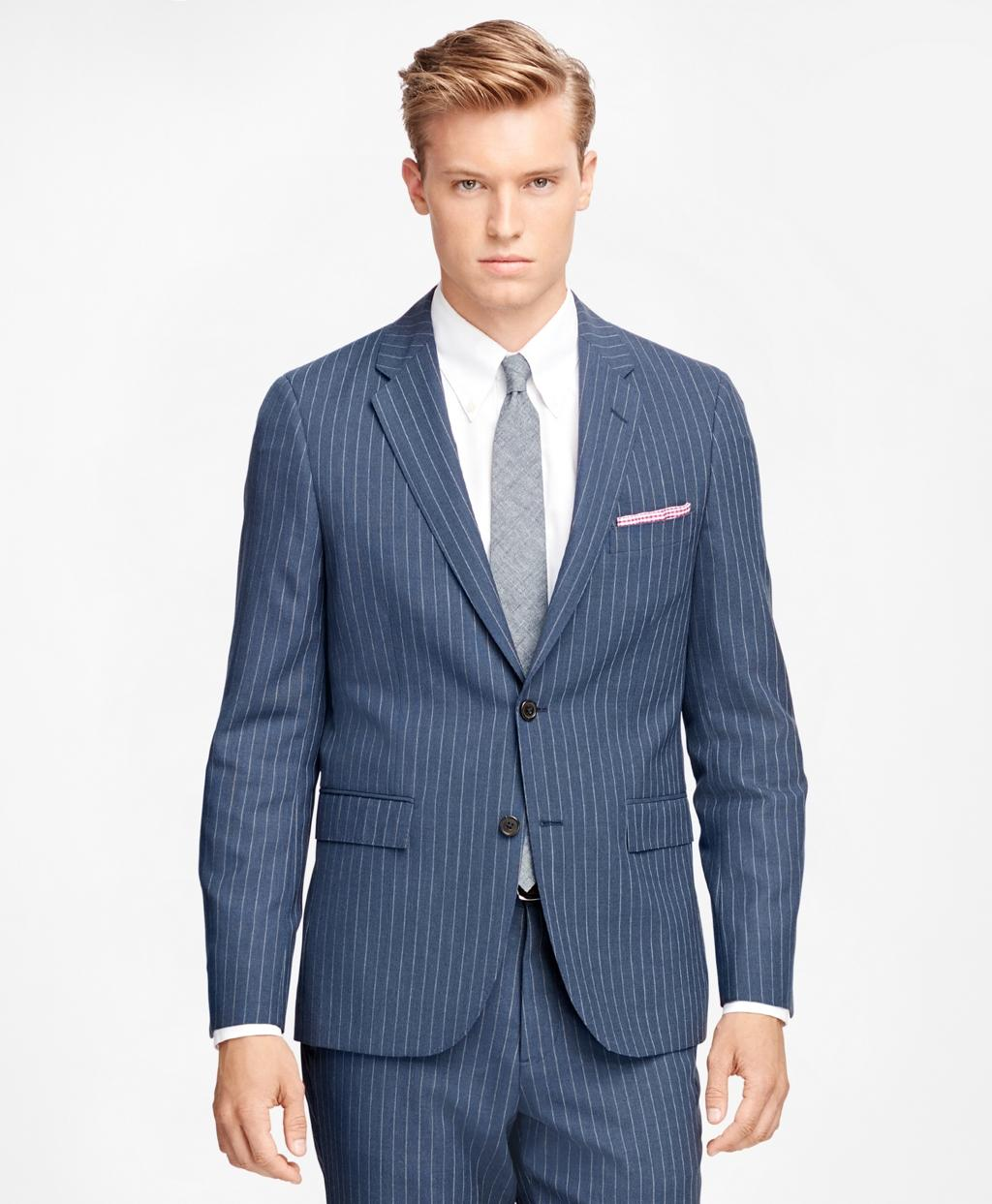 Lyst - Brooks brothers Wide Stripe Suit Jacket in Blue