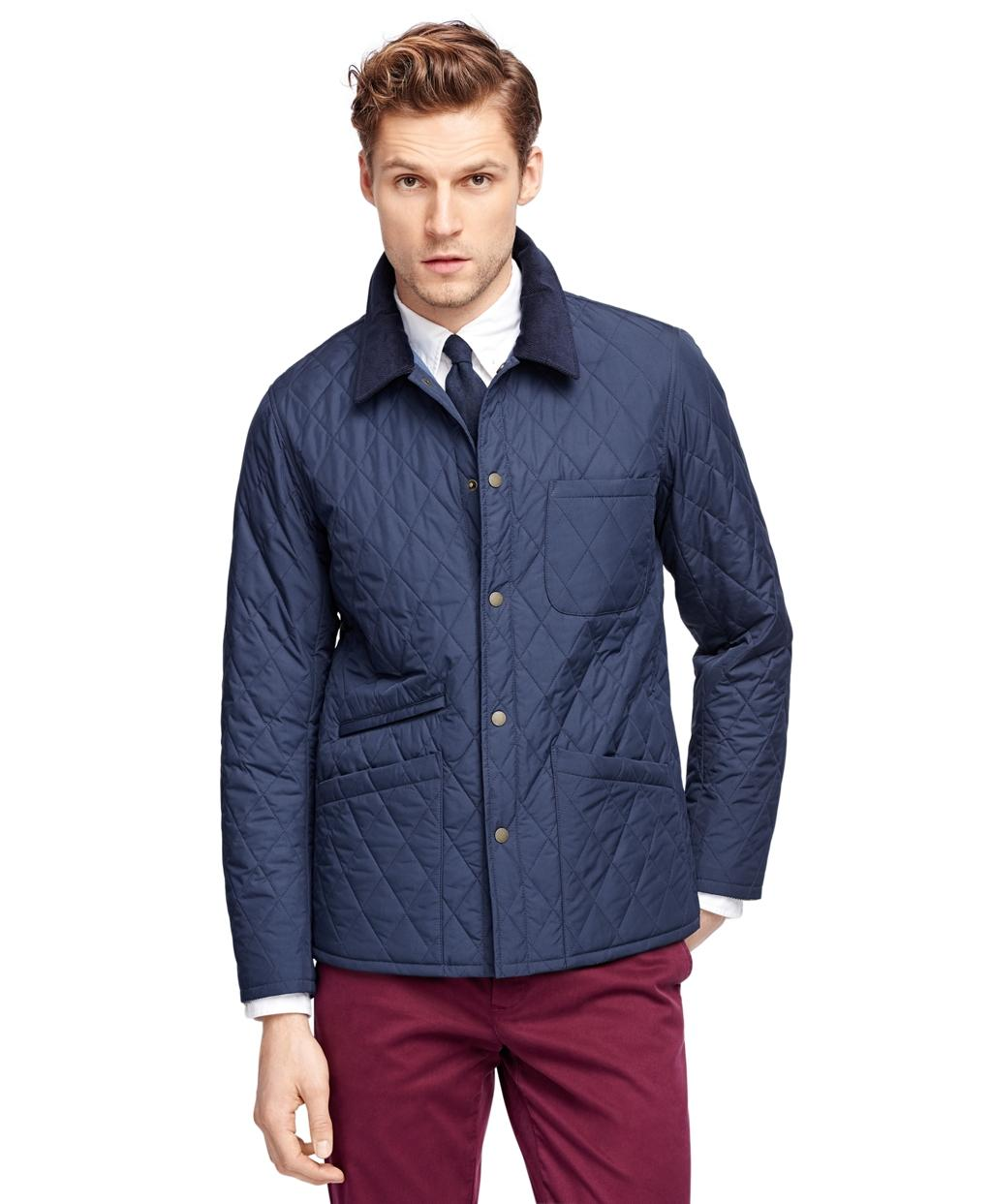 Lyst Brooks Brothers Quilted Jacket In Blue