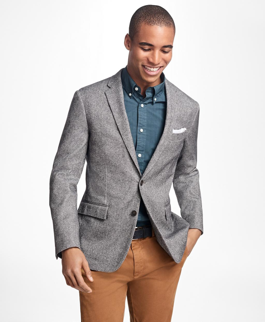 Lyst brooks brothers herringbone cotton wool sport coat for men - Brooks brothers corporate office ...