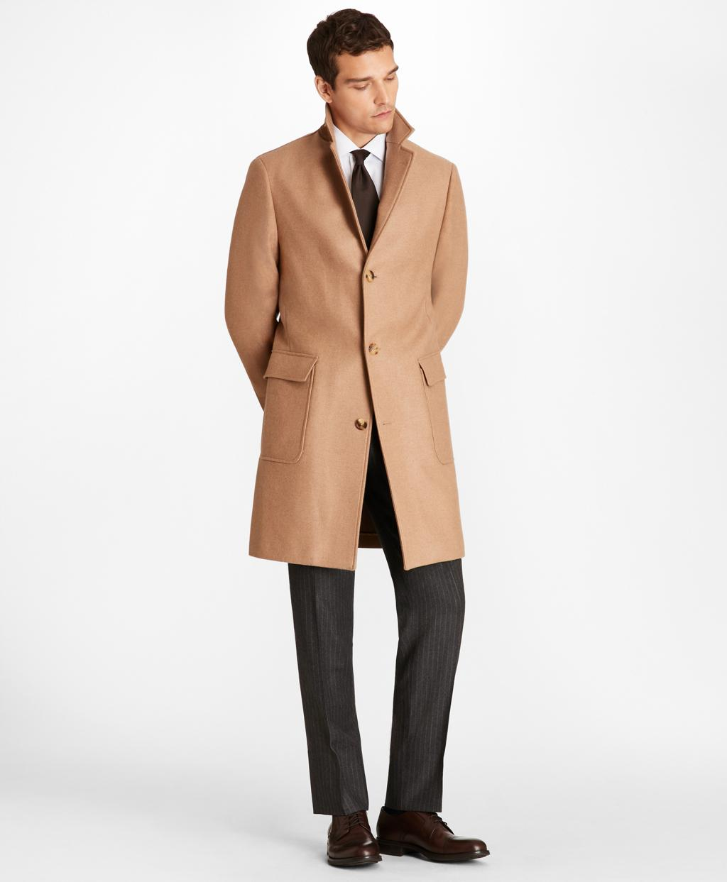 2f6388c5c3ac3 Brooks Brothers Camel Hair Polo Coat in Natural for Men - Lyst