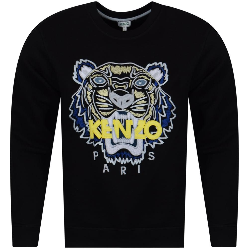 cd66e934 KENZO Black/yellow/blue Tiger Logo Sweatshirt in Black for Men - Lyst