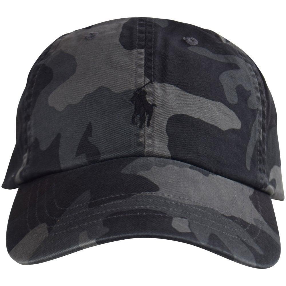 6d327712bda92 Polo Ralph Lauren - Gray Black grey Camo Logo Baseball Cap for Men - Lyst.  View fullscreen
