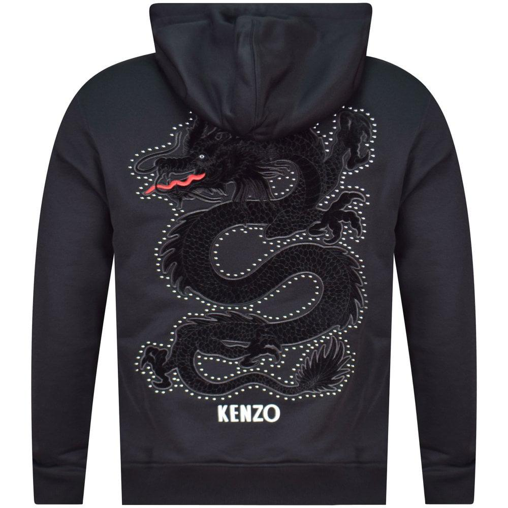 f9be7f0ec KENZO Embellished Dragon Hoodie in Black for Men - Lyst