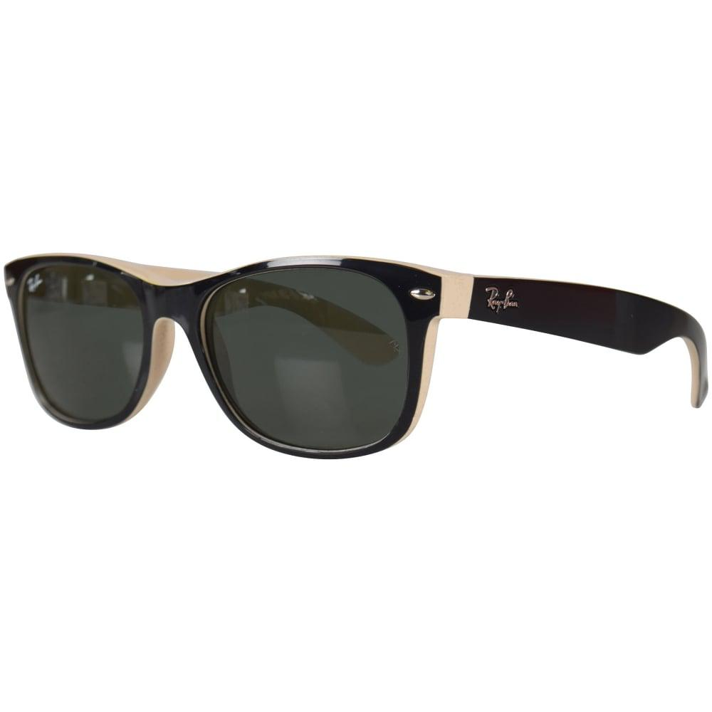 6d59b0797c Lyst - Ray-Ban Ray-ban Black cream Wayfarer Sunglasses in Black for Men