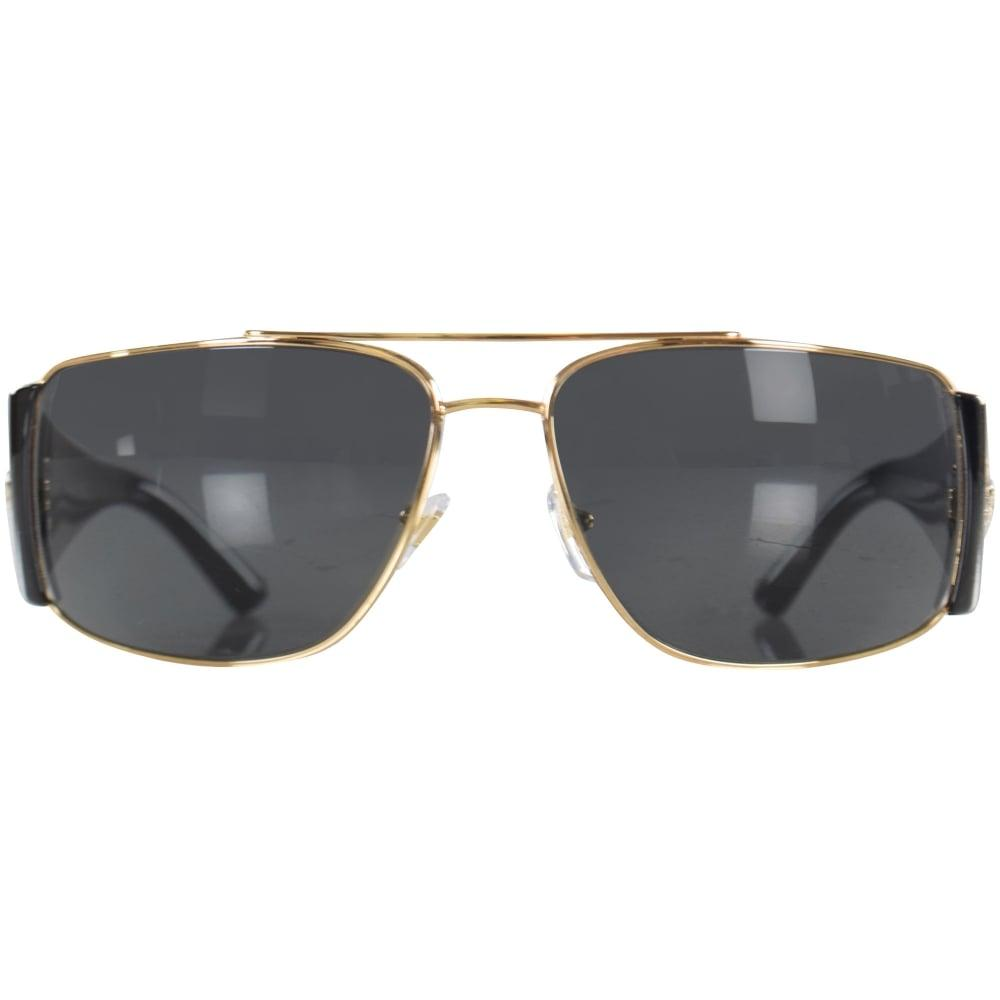 487d016ff9ba Versace - Accessories Black gold Retro Medusa Frame Sunglasses for Men -  Lyst. View fullscreen
