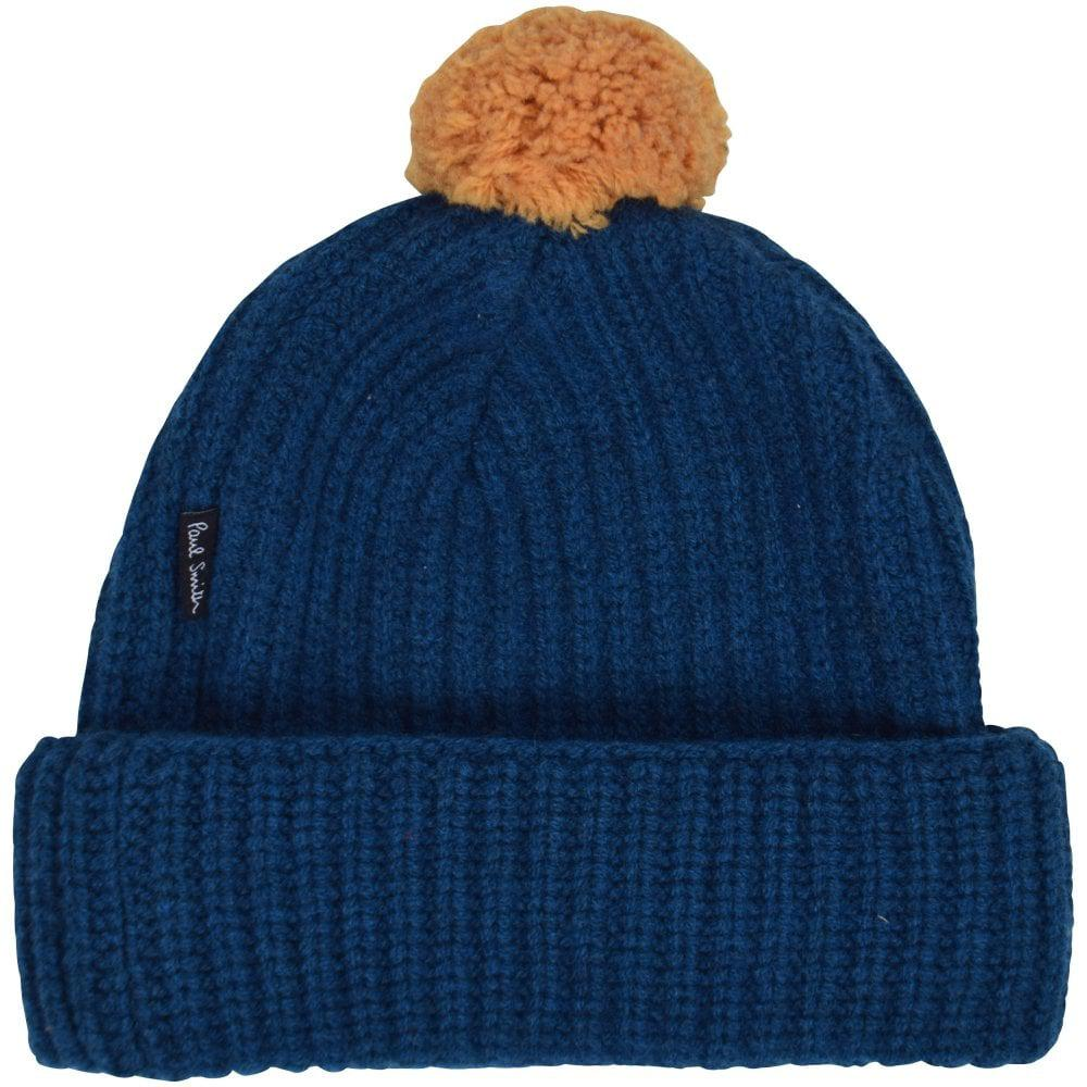 f38c9455744 PS by Paul Smith - Blue yellow Bobble Hat for Men - Lyst. View fullscreen