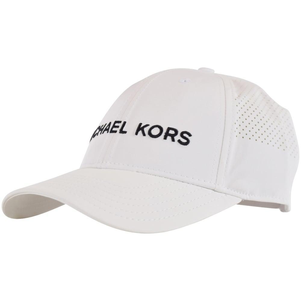 c7dd309f95b Lyst - Michael Kors White Cotton Cap in White for Men