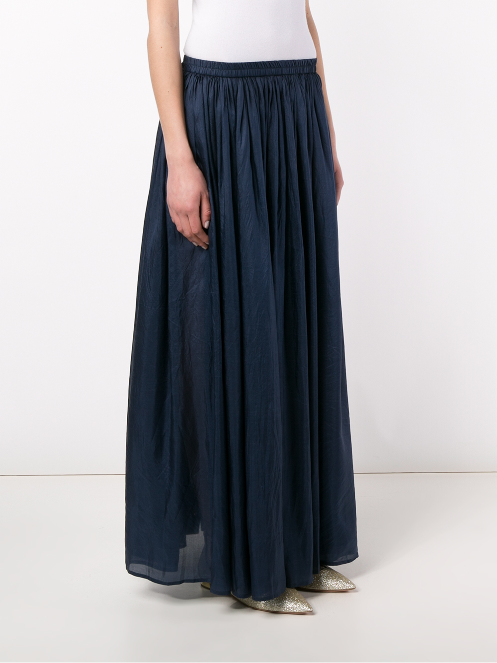 mes demoiselles silk maxi skirt in blue lyst