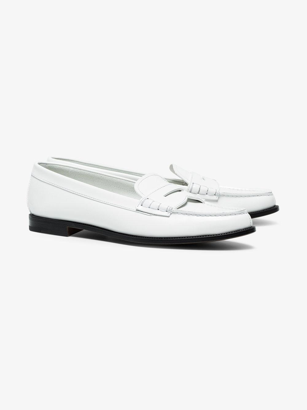 Kara Glossed-leather Loafers - White Churchs 8S6gN