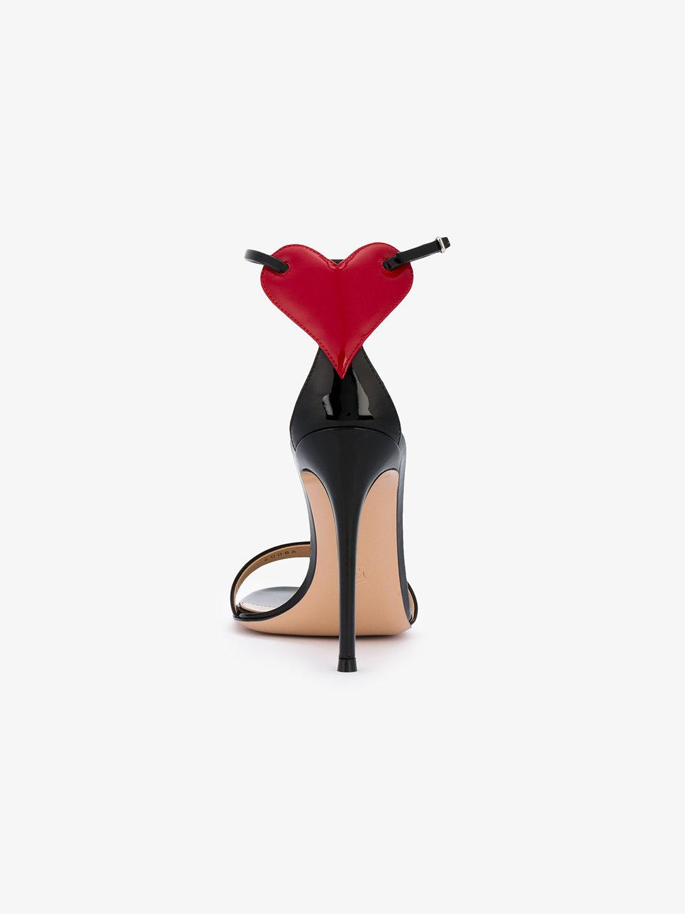 424ff33380c0 Lyst - Gianvito Rossi Love Cutout Heart Sandals in Black