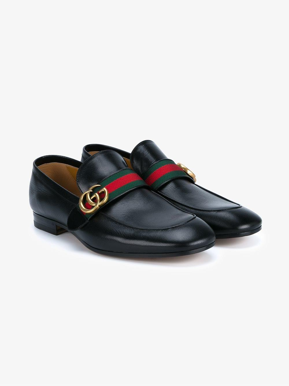 3384613755c Lyst - Gucci Web Gg Loafers in Black for Men - Save 5%