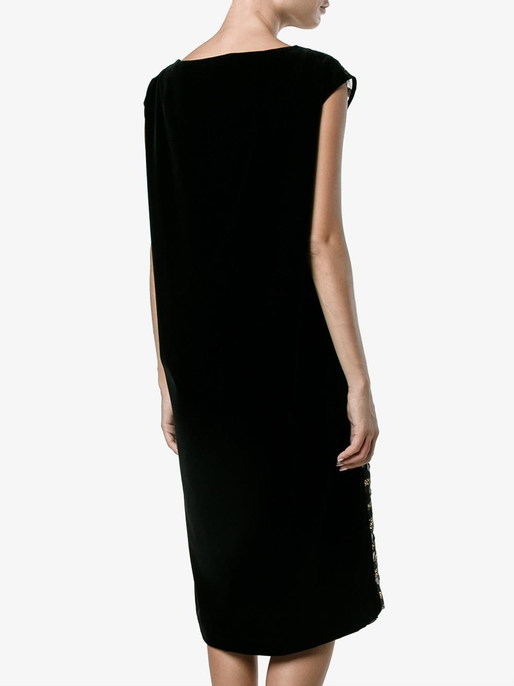 Lyst dries van noten metallic jacquard dress in black for Dries van noten wedding dress