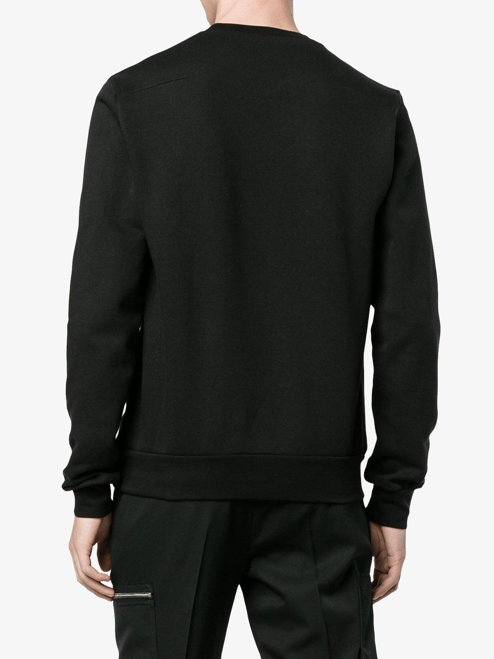 lyst dior homme flower and skull sweatshirt in black for men. Black Bedroom Furniture Sets. Home Design Ideas