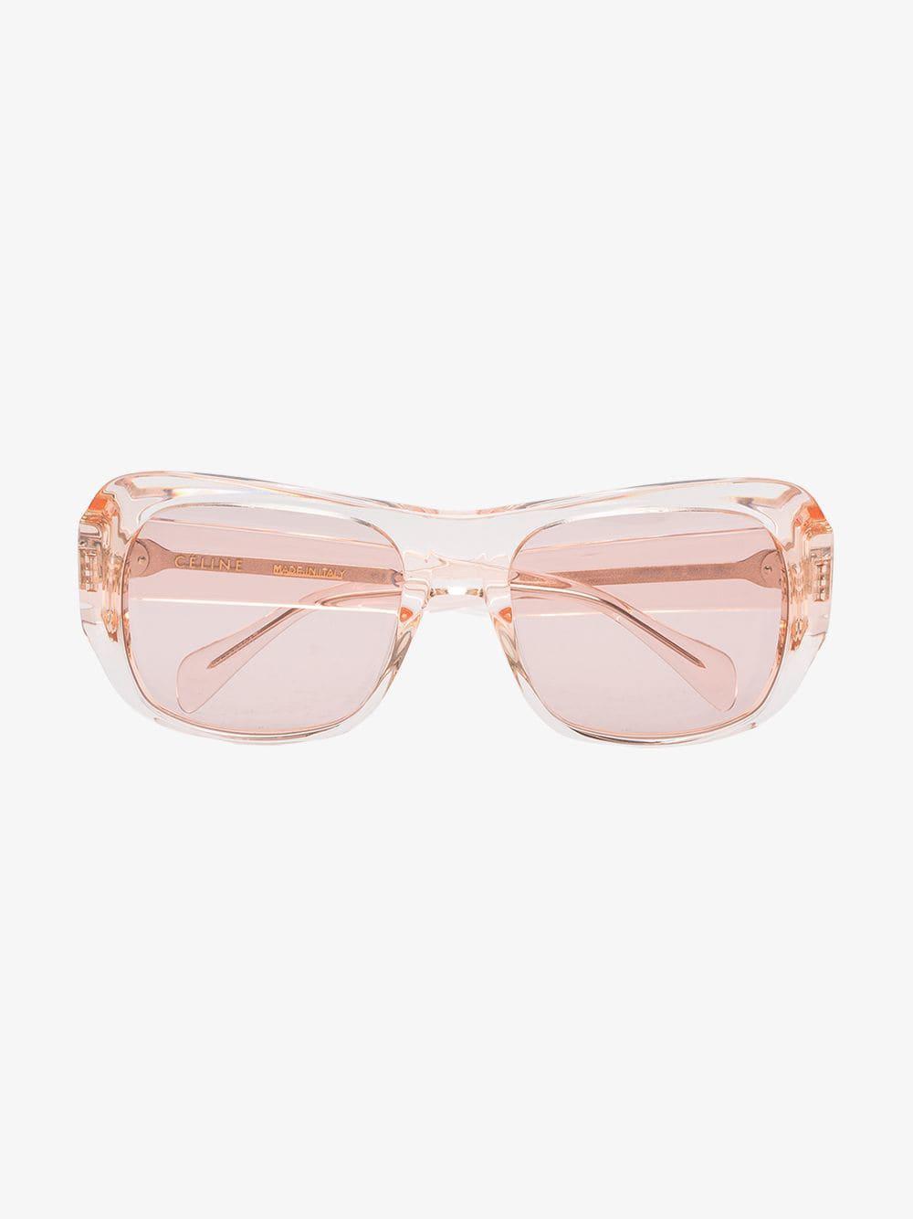 79ee562d7a2 Céline Celine Eyewear Pink Rectangular Sunglasses in Pink - Lyst