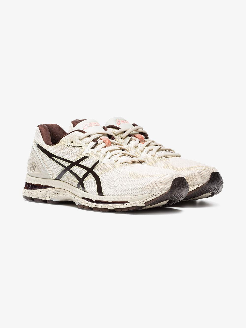 nude Gel Nimbus 20 lace-up sneakers - Nude & Neutrals Asics Find Great Cheap Online NCDMBVA5k