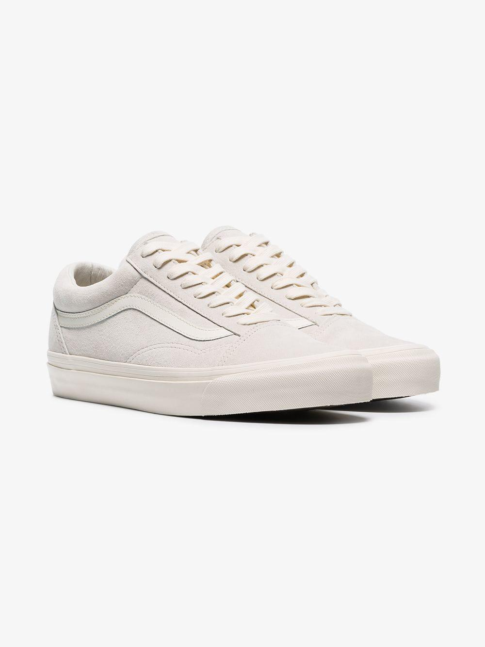 b1565f8865 Lyst - Vans Grey Vault Suede Low Top Sneakers in White for Men - Save 3%