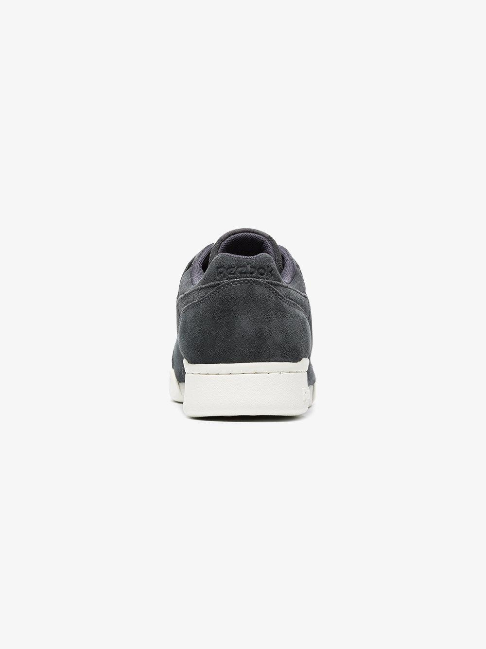 56cccaa9150 Lyst - Reebok Black Workout Plus Mcc Suede Sneakers in Black for Men