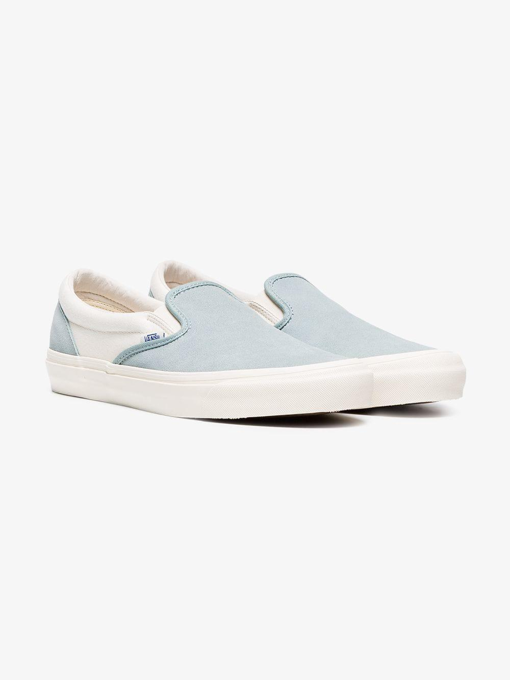 Vans Blue Og Classic Slip-on Lx Cotton Sneakers in Blue for Men - Save  33.33333333333333% - Lyst 8f048c00d
