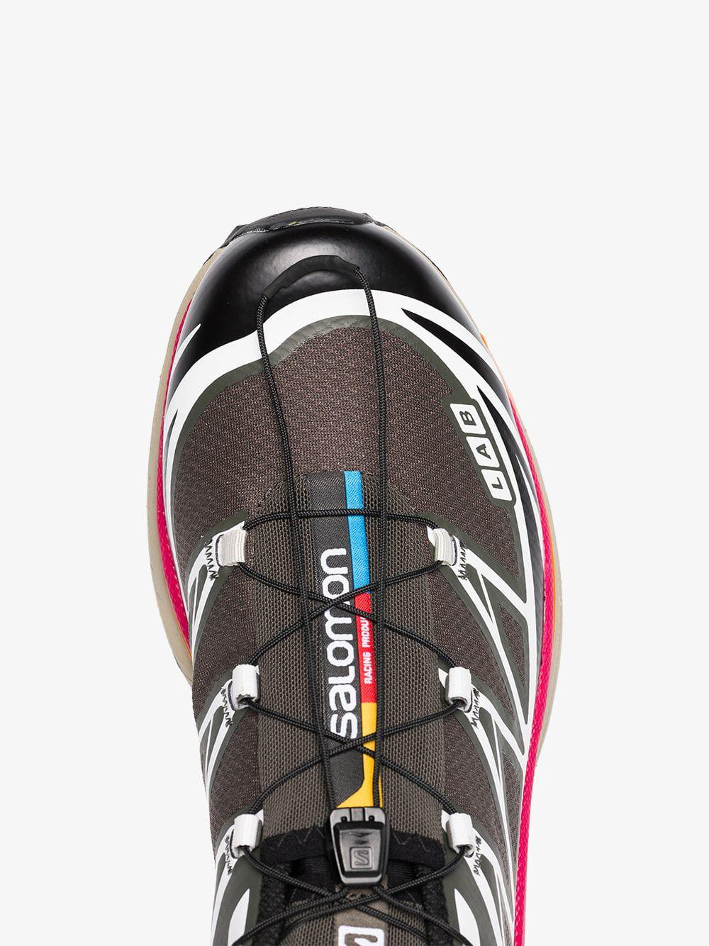 meet 3237a 02247 Salomon S LAB Grey, Pink And Orange Xt-6 Adv Sneakers in Black for ...