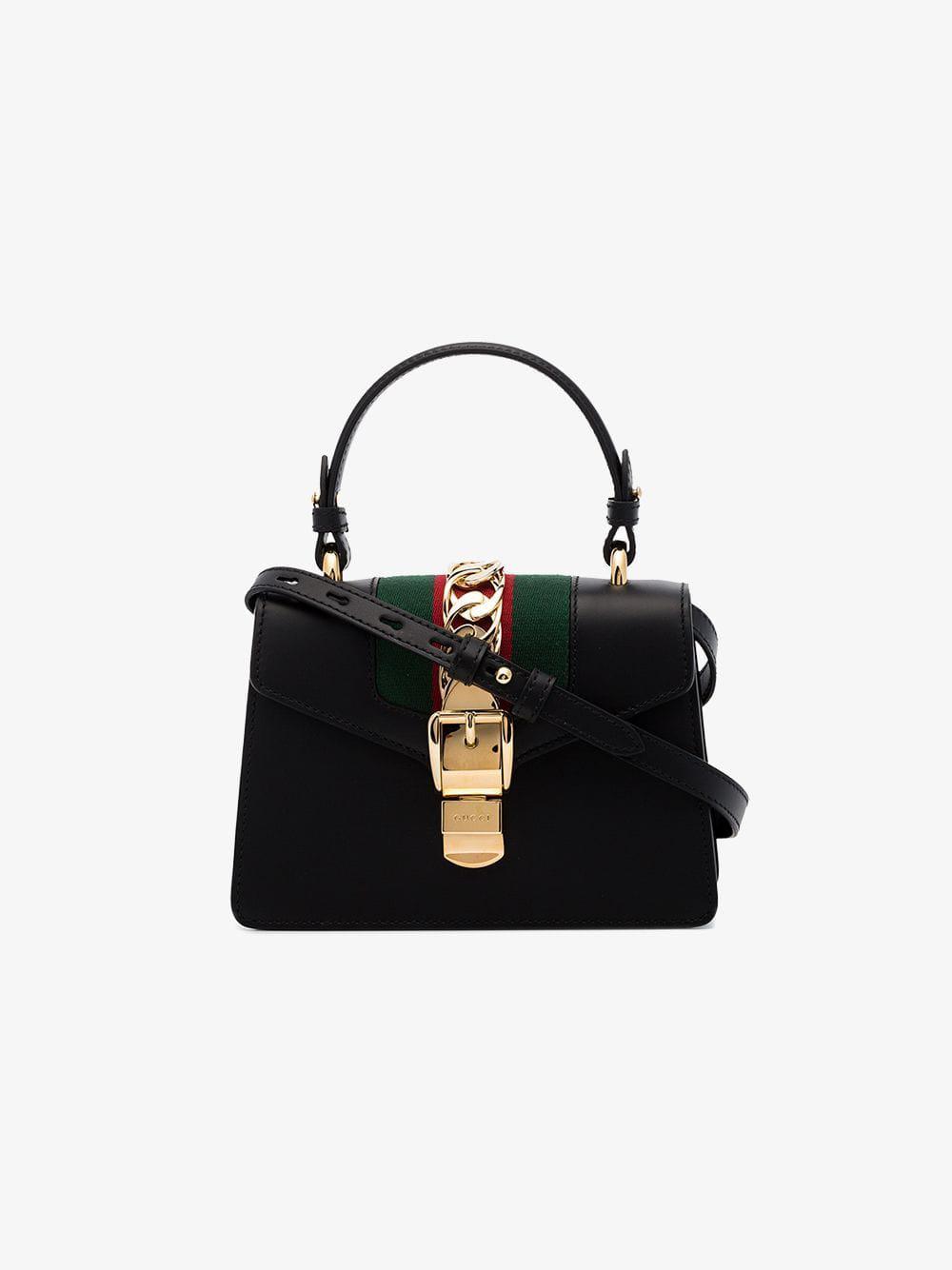 0caa73e9440 Lyst - Gucci Black Sylvie Mini Bag in Black - Save 14%