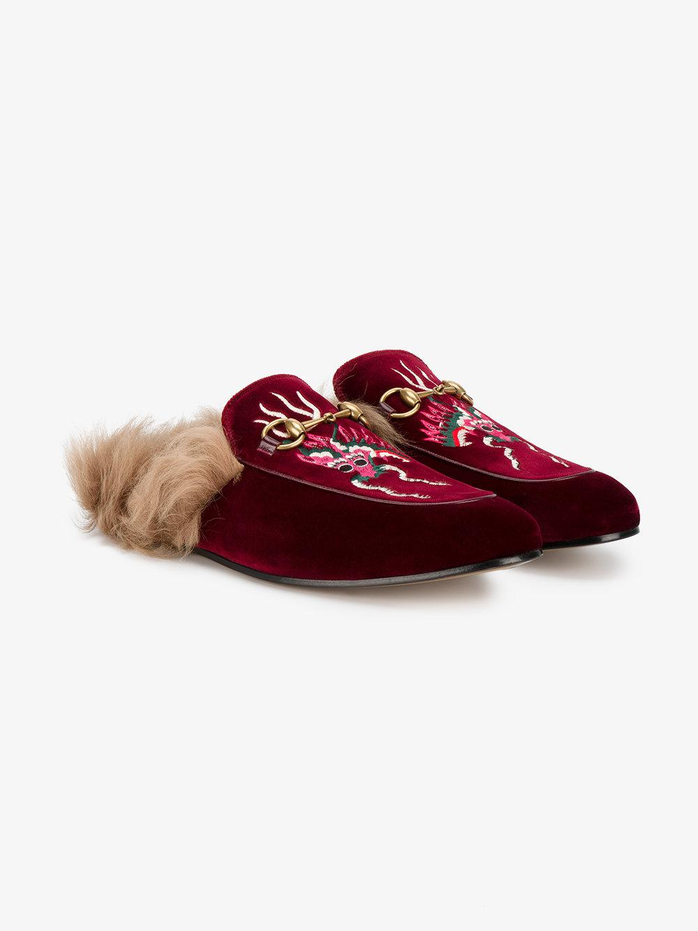 m1fWlI4Dxp Dragon embroidered Princetown slippers hTv2BMG3L