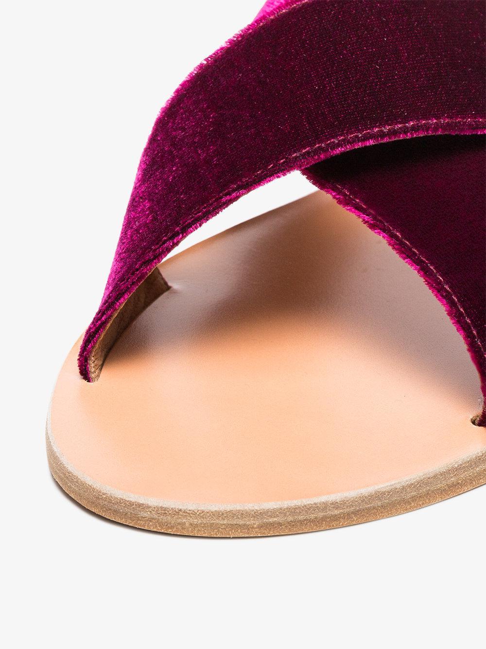 Cheap Sale Fashionable Largest Supplier Purple Thais Velvet Sandals - Pink & Purple Ancient Greek Sandals WwdEm3yi