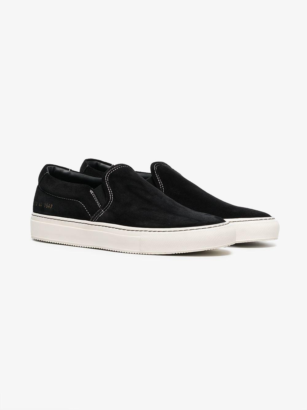 d3c10702542d Common Projects - Black Slip-on Sneakers for Men - Lyst. View fullscreen