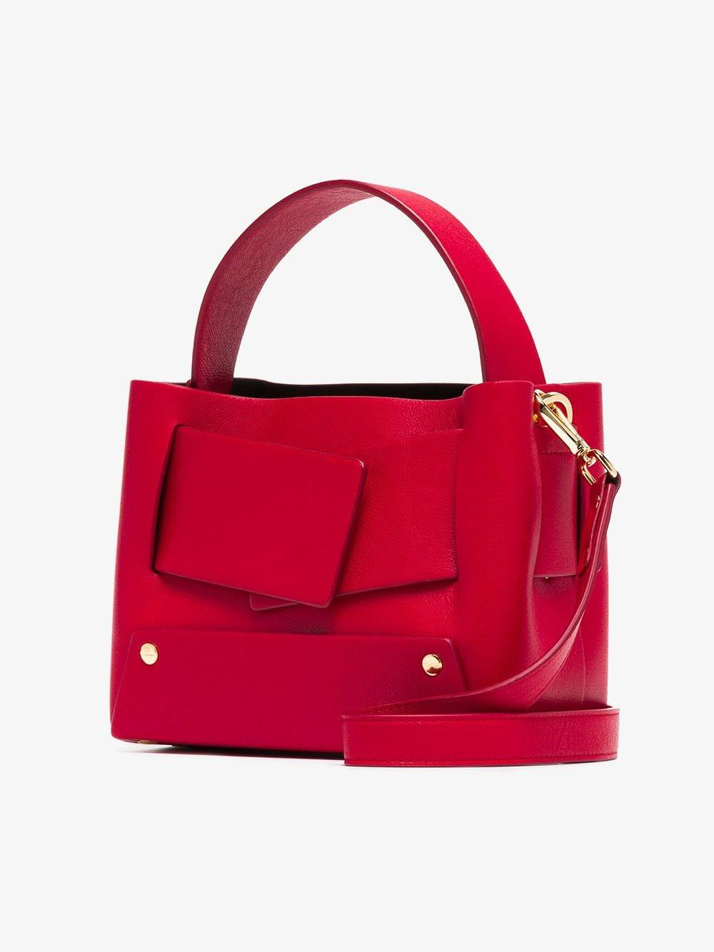 3e00462a26 Yuzefi - Red Dinky Leather Tote Bag - Lyst. View fullscreen