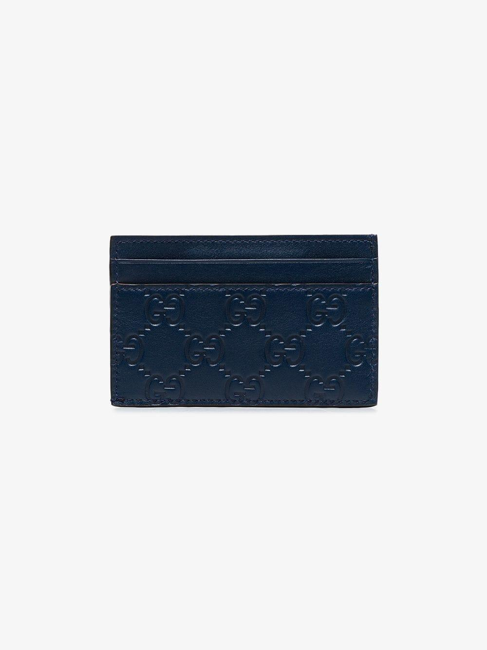 2ef67c6b10c6 Lyst - Gucci Blue Ny Yankees Patch Cardholder in Blue for Men