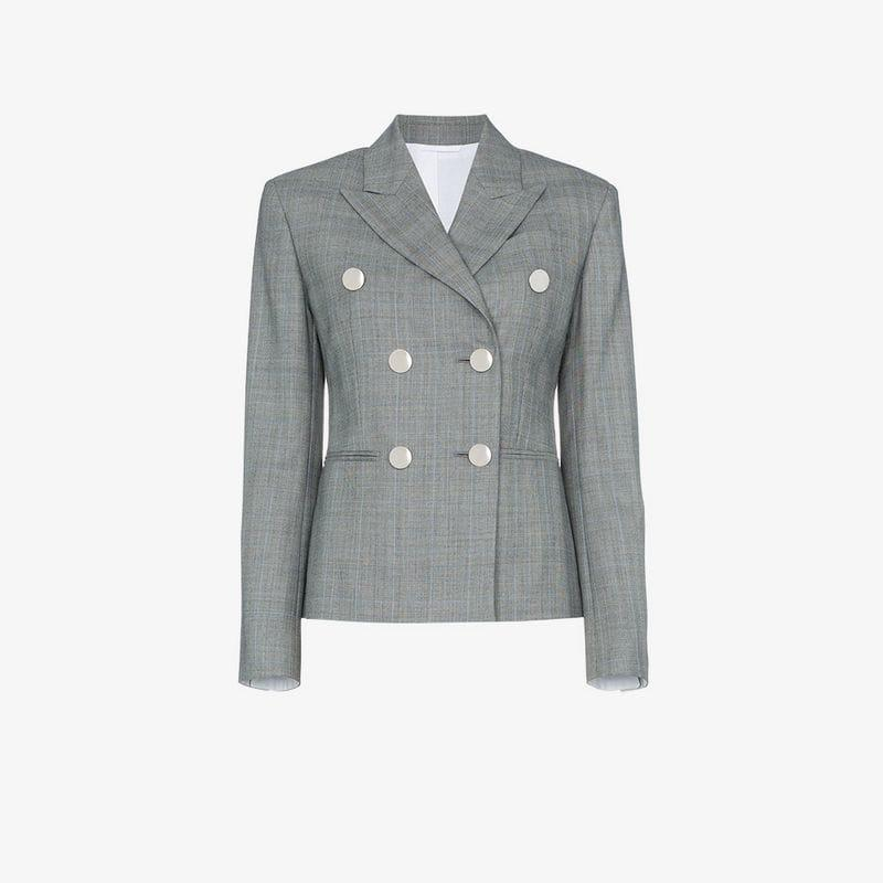 70f0dff6e4af CALVIN KLEIN 205W39NYC Grey Double-breasted Check Blazer in Gray - Lyst