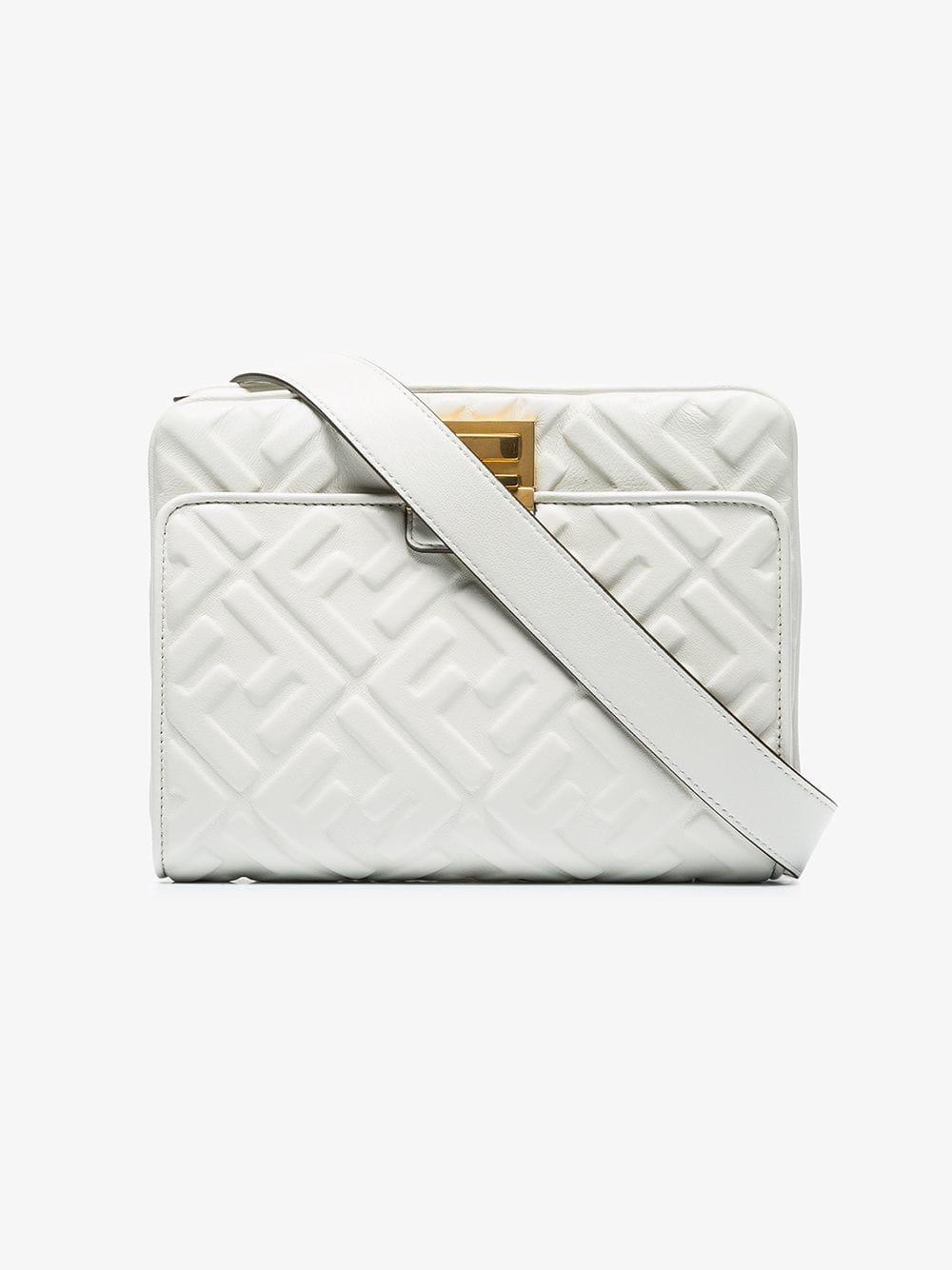 1c8a6f6de917 Fendi Upside Down Belt Bag in White - Lyst