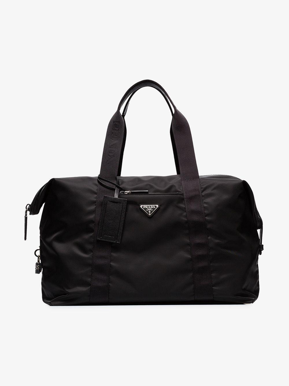 Prada - Black Logo Weekender Bag for Men - Lyst. View fullscreen fc4610dfa6052