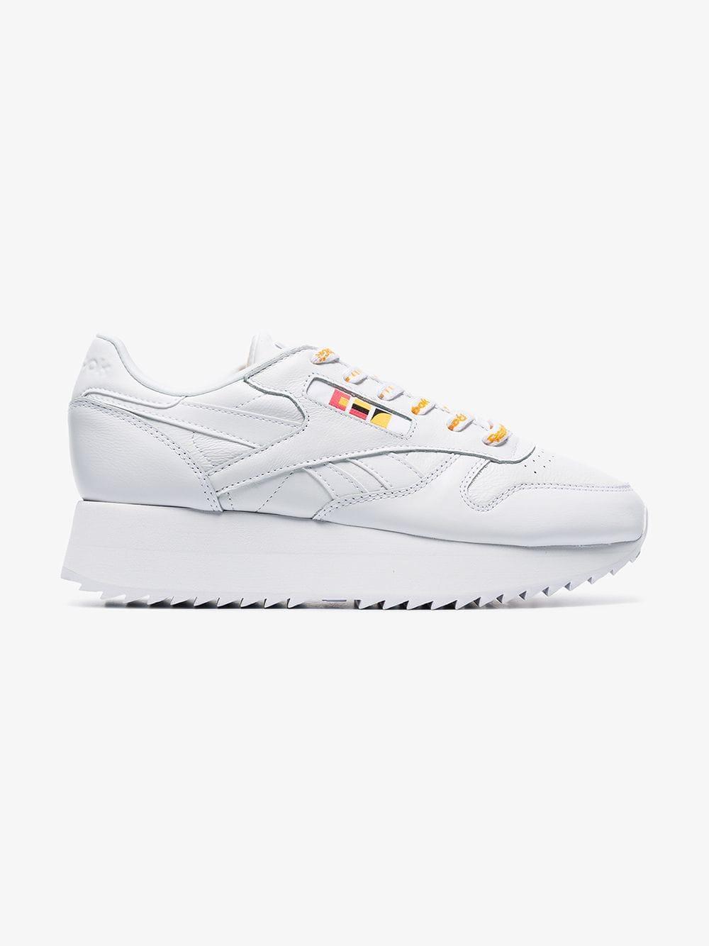 Reebok. Women s White X Gigi Hadid Classic Chunky Leather Low-top Sneakers 42414d6f3