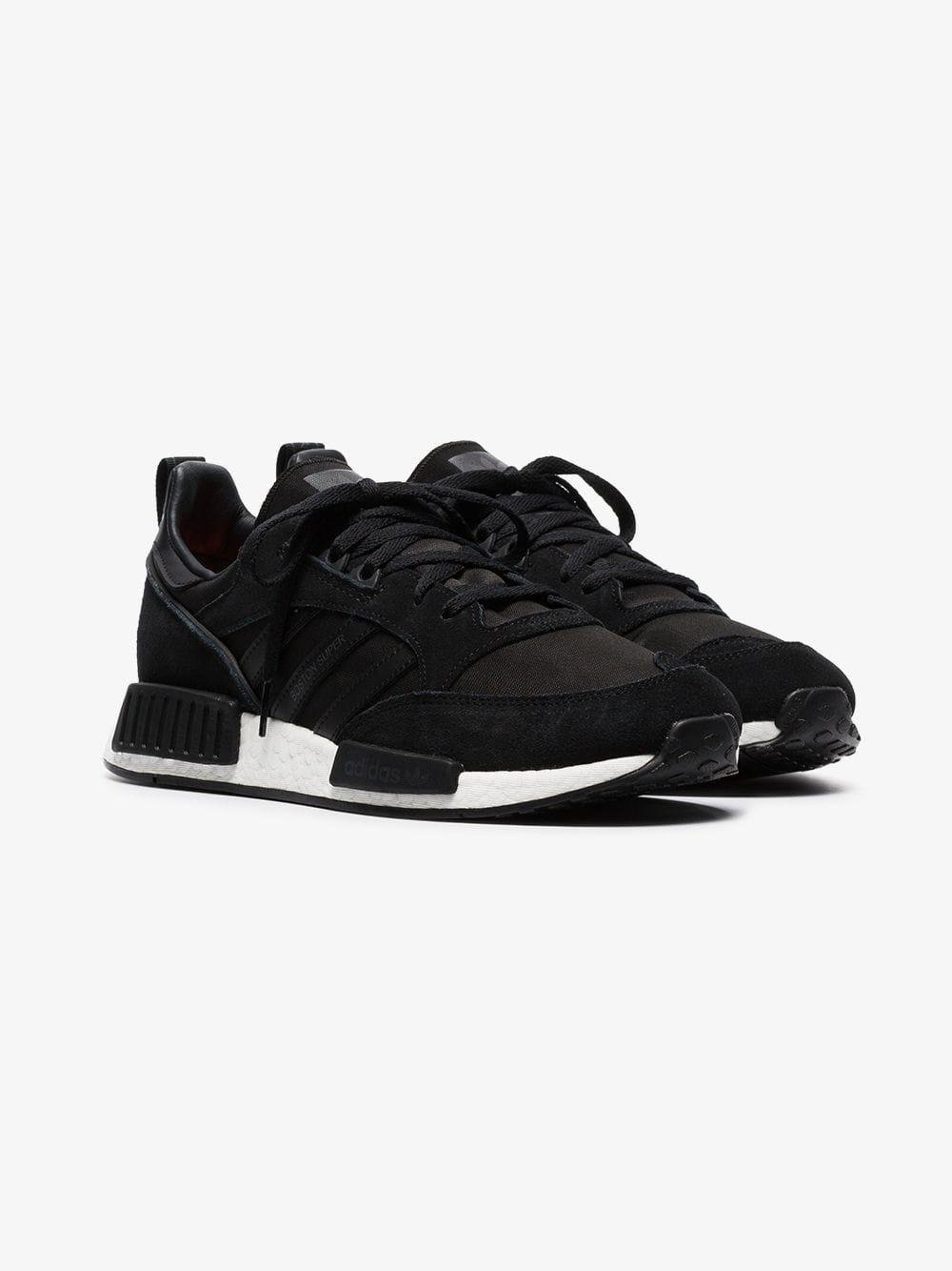 5830f39322a744 Lyst - adidas Black Boston R1 Suede Sneakers in Black for Men
