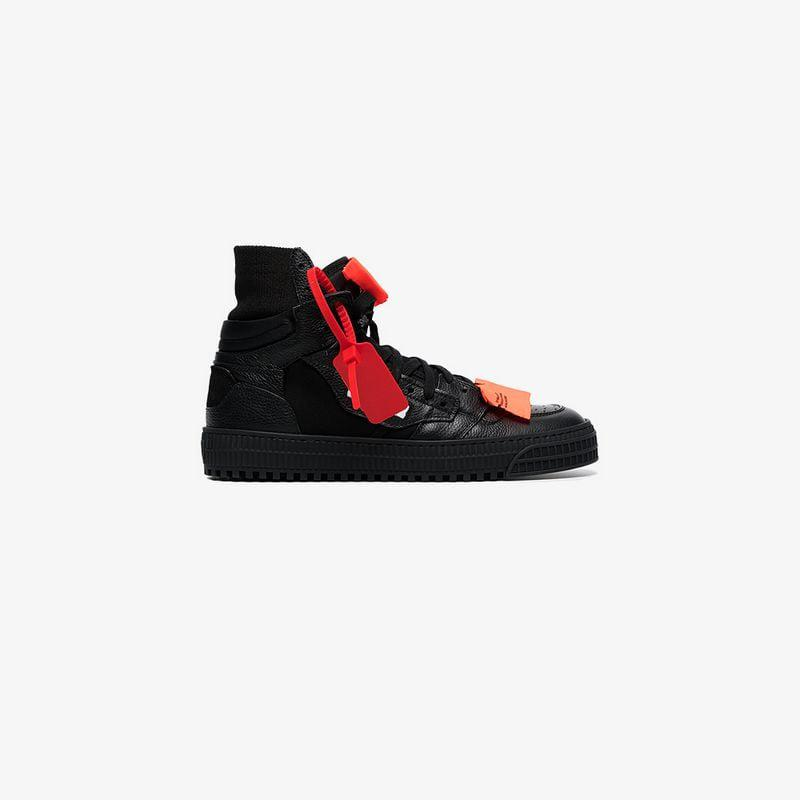 53555bd090f6 Off-White c o Virgil Abloh. Women s Black Off Court 3.0 Leather Trainers