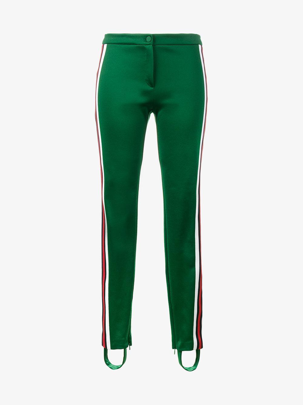 2779ca644dc1 Lyst - Gucci Stirrup Stripe Track Pants in Green