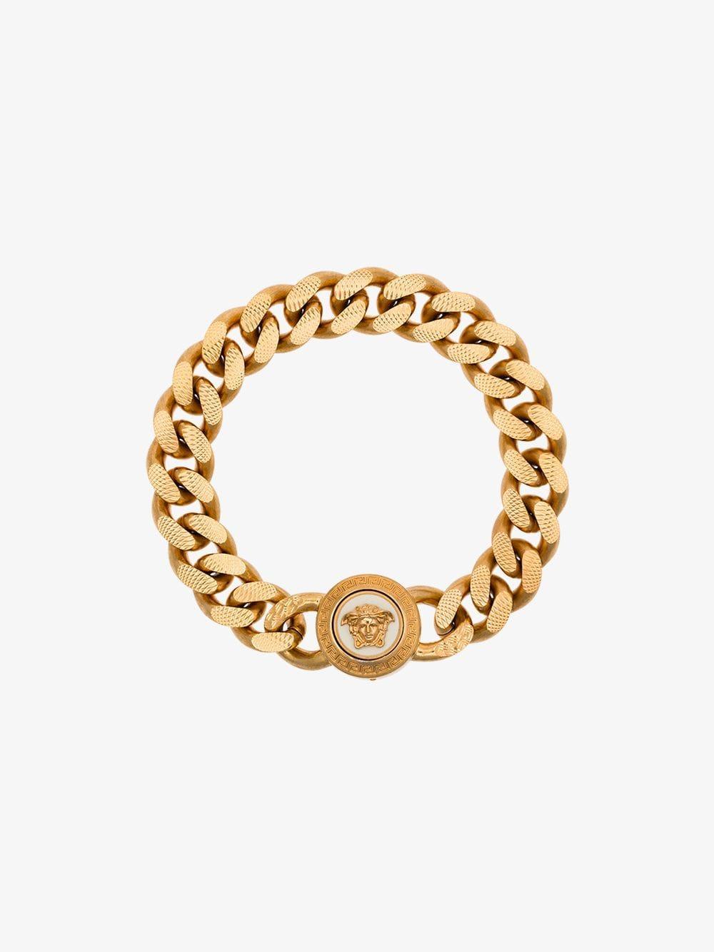 d9cbd82d80f4 Lyst - Versace Gold Medusa Chain Bracelet in Metallic for Men